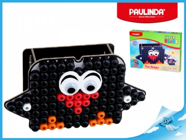 Paulinda Super Beads Jumbo tučňák 10x8mm stojánek na tužky