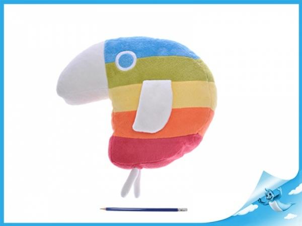 plyšový papoušek duháček 20x25cm