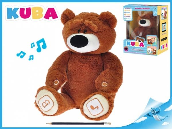 plyšový medvídek KUBA 35cm naučný se zvukem