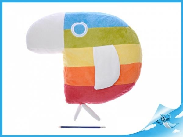 plyšový papoušek duháček 30x37cm