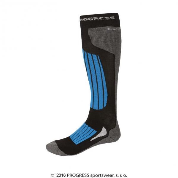 podkolenky Progress SKI bamboo černo/modré