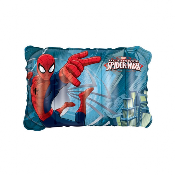 polštářek nafukovací Spiderman 38x24cm