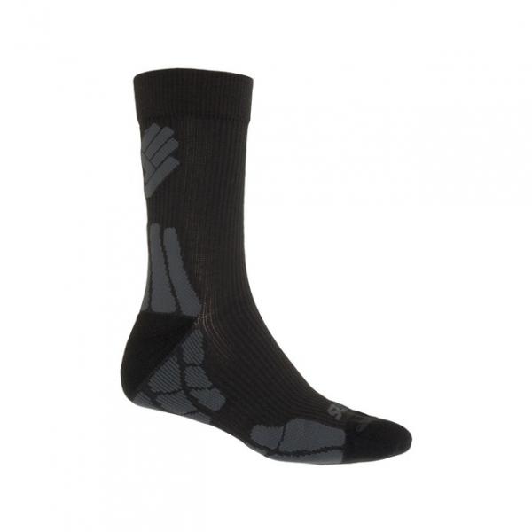 ponožky SENSOR HIKING MERINO černo/šedé