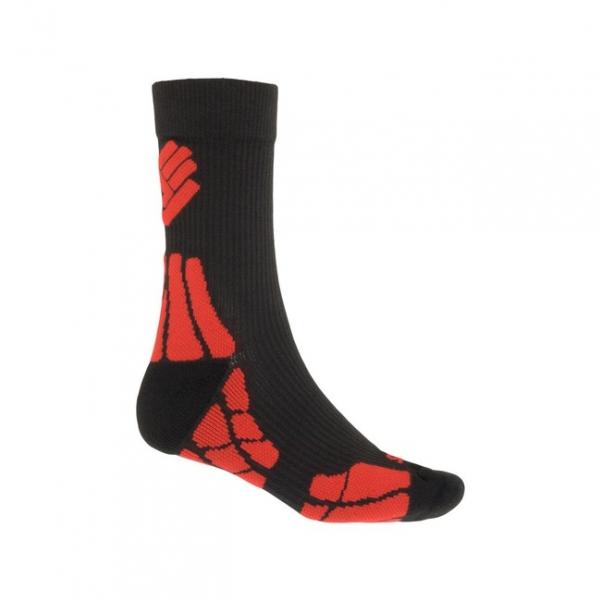 ponožky SENSOR HIKING MERINO černo/červené