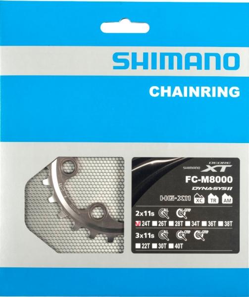 Převodník 24z Shimano XT FC-M8000 2x11 4 díry
