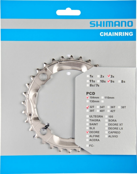převodník 32z Shimano Deore FC-M532 3x9 4 díry