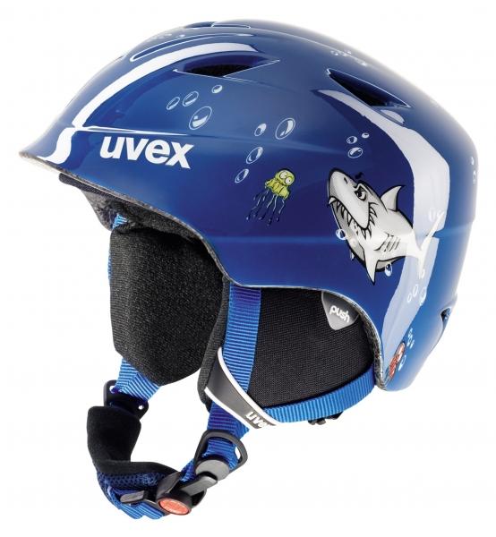 přilba lyžařská UVEX AIRWING 2 modrá/žralok