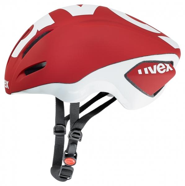 přilba UVEX EDAero červeno/bílá