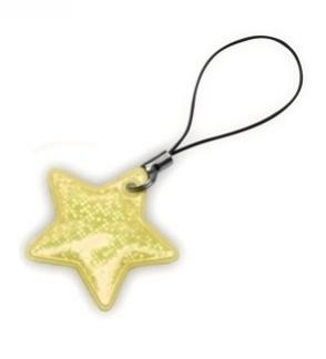 taháček reflexní na zip Hvězda zlatá