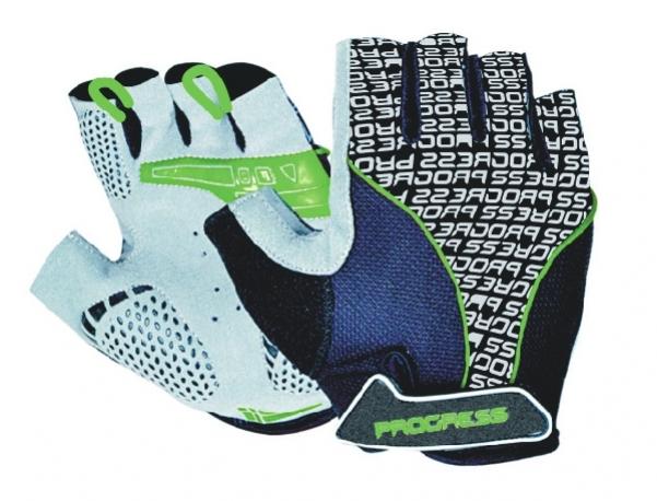 rukavice pánské Progress PULL MITTS černo/zelené