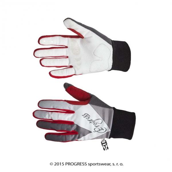 rukavice Progress AURORA GLOVES zimní černo/červené