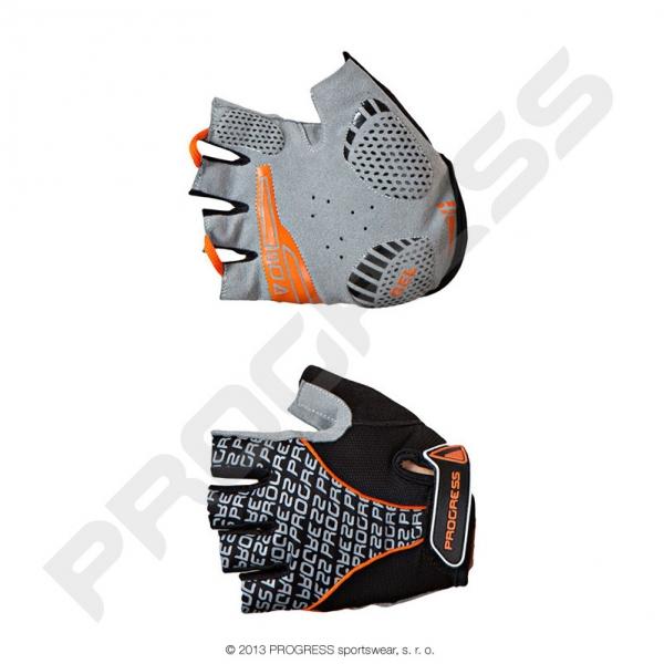 rukavice pánské Progress PULL MITTS černo/oranžové