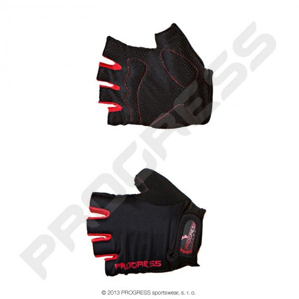 rukavice pánské Progress SIMPLE MITTS černo/červené