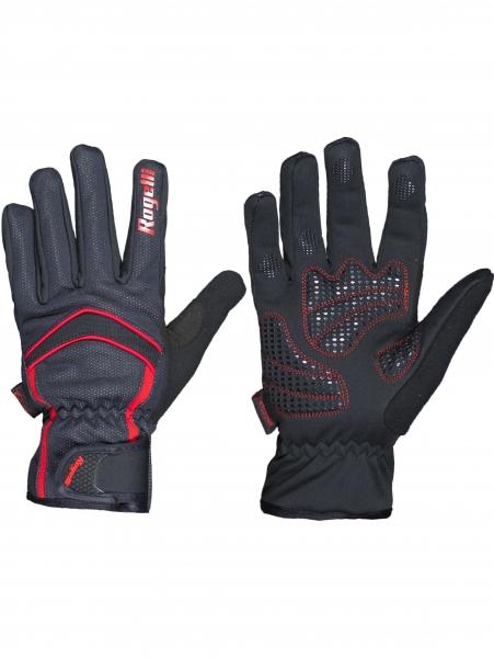 rukavice Rogelli WHITBY zimní membránové černo/červené