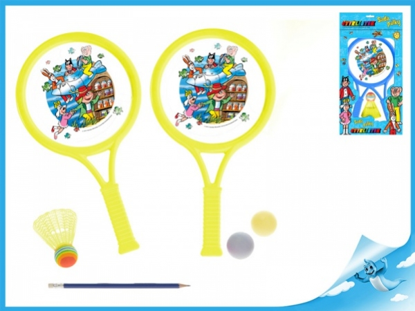 sada tenisová Čtyřlístek s košíčkem a míčky