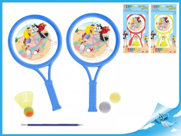 sada tenisová Ferda Mravenec s košíčkem a míčky