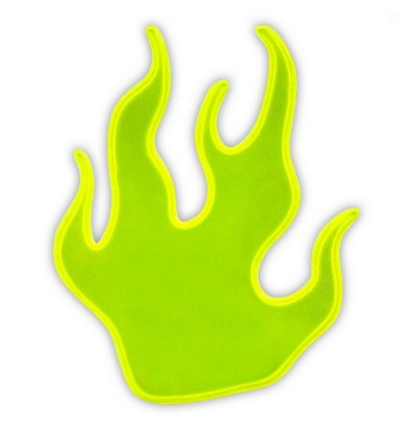 samolepka reflexní Plamínek žlutý