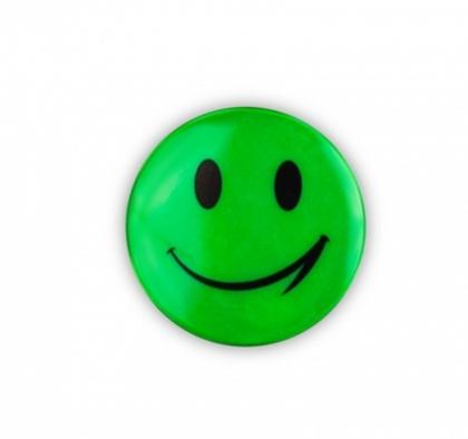 samolepka reflexní smajlík zelený
