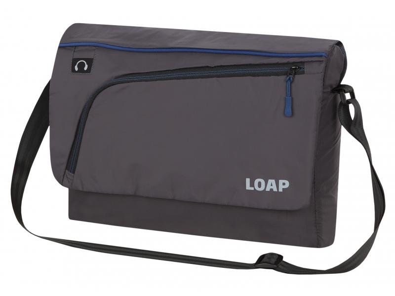 taška LOAP GOTSA přes rameno černo/modrá