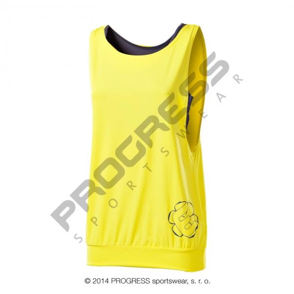 tílko dámské Progress ZETA+top žluté