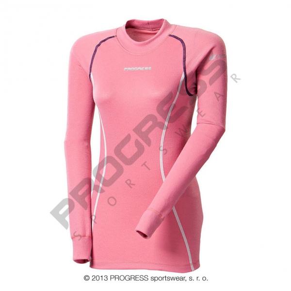 triko dlouhé dámské Progress DFc růžové