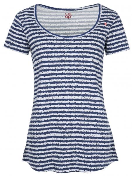 triko krátké dámské LOAP ANOTACE modro/bílé