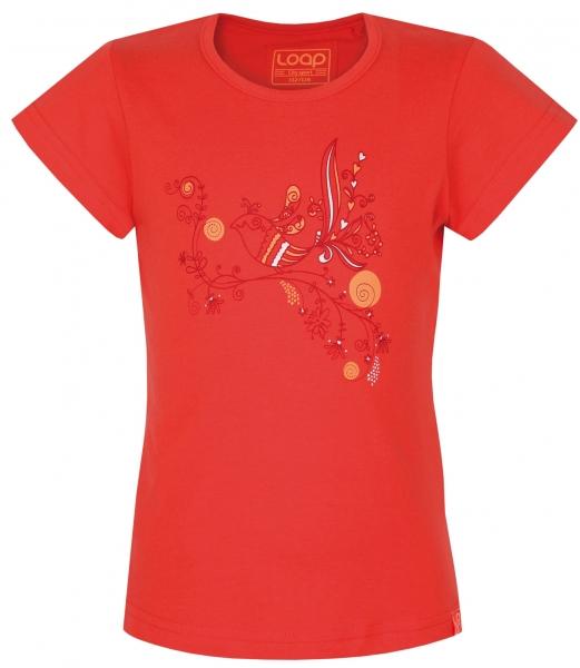 triko krátké dětské LOAP ILFA oranžové