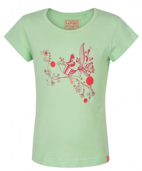 triko krátké dětské LOAP ILFA zelené