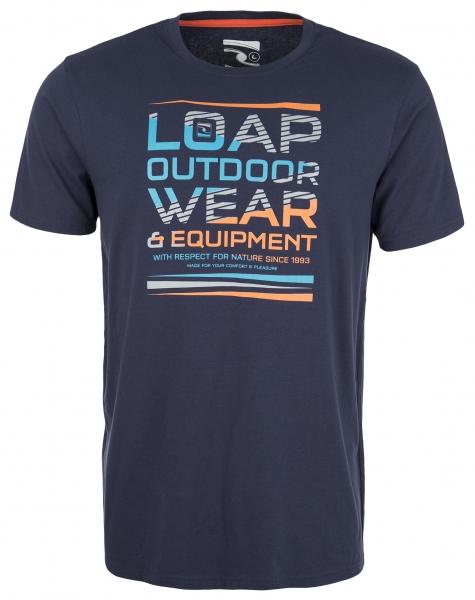 triko krátké pánské LOAP BALCANO modré