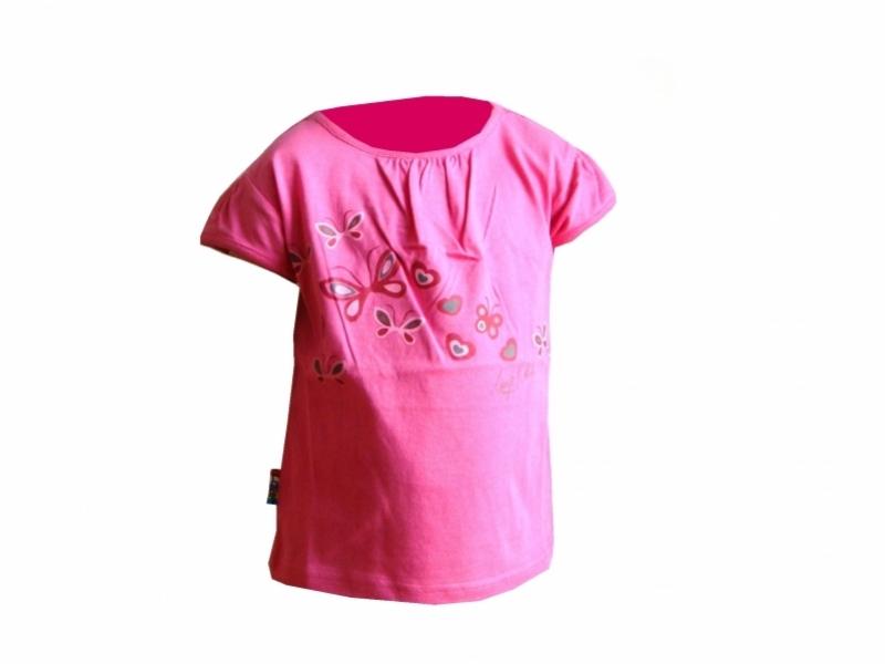 triko krátké dětské LOAP ROJA růžové