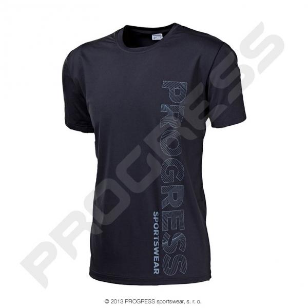 triko krátké pánské Progress LEROY černé
