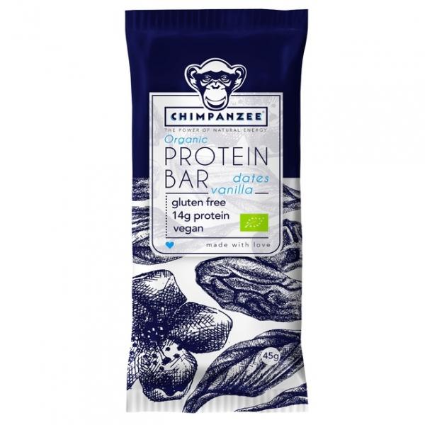 tyčinka Chimpanzee Protein Bar vanilka+datle