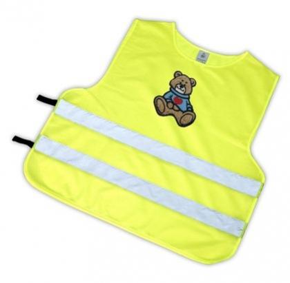 vesta reflexní dětská medvídek hnědý S