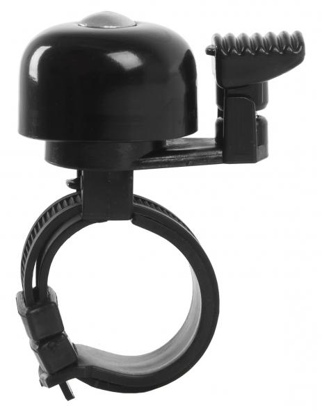 zvonek Mini Bell černý universal pro řidítka 22,2-31,8mm