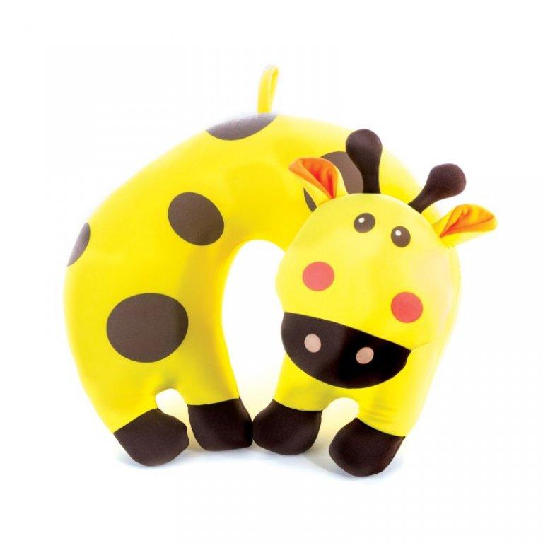 polštářek cestovní Spokey BAMBINI mikrokuličky žirafa