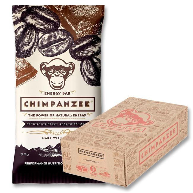 tyčinka Chimpanzee Energy Bar čokoláda+espresso