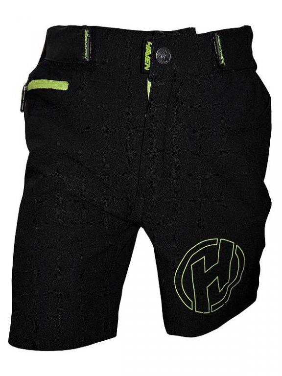 kalhoty krátké dětské HAVEN TeenAge černo/zelené, 1
