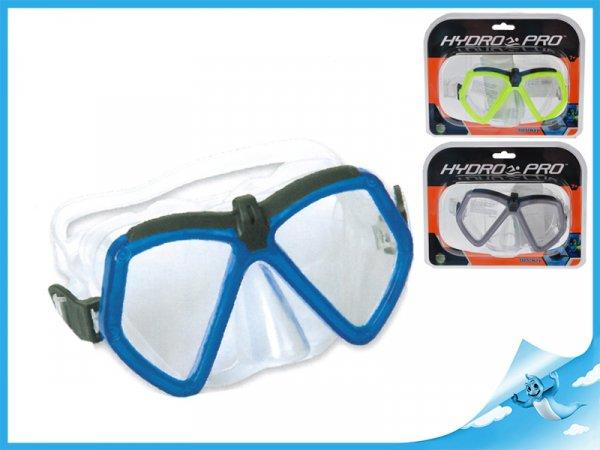 brýle potápěčské polykarbonátová skla 7-14let, červené