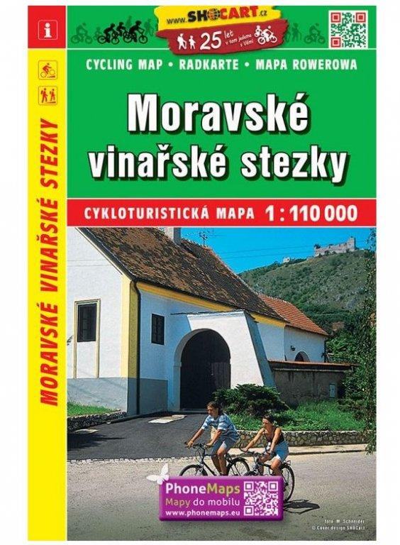 mapa cyklo Moravské vinařské stezky, 171