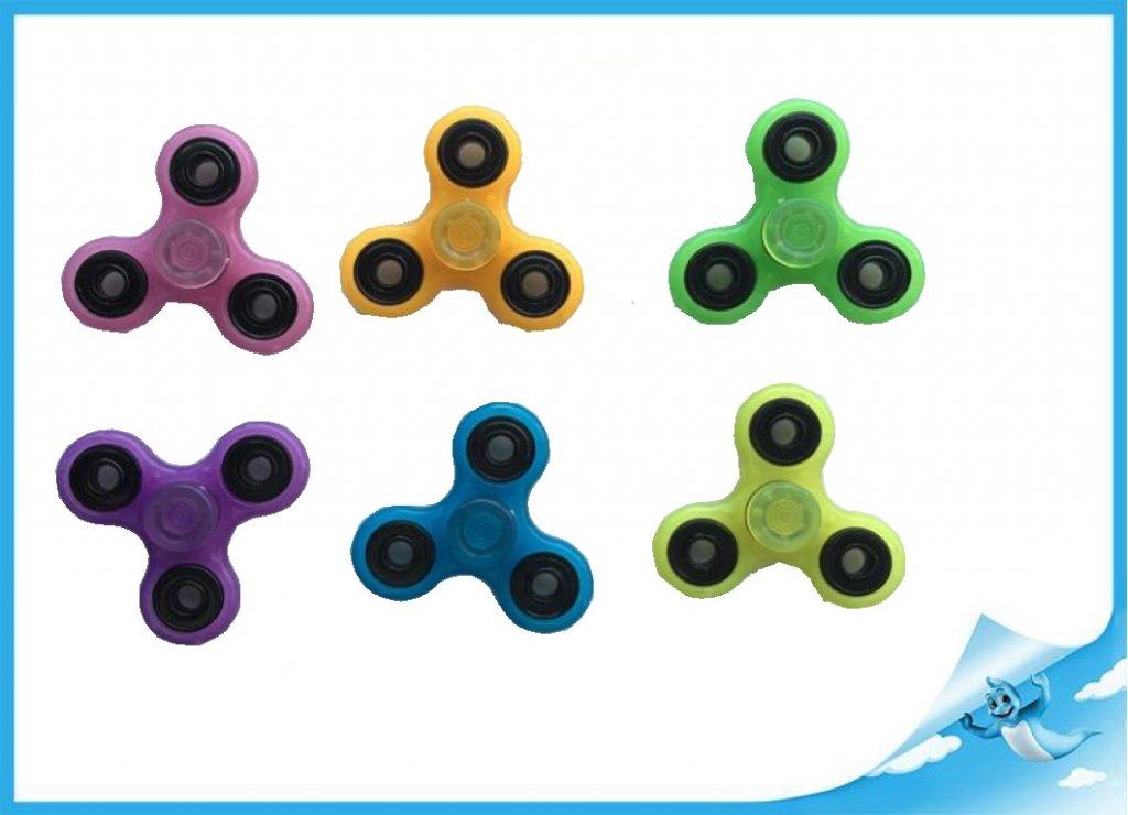 spinner Extreme 7,6cm svítící ve tmě, fialový