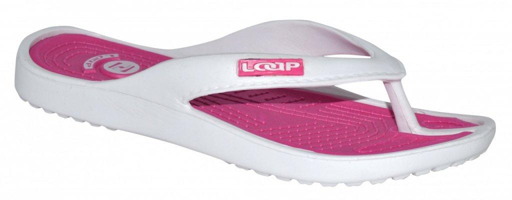 boty dámské LOAP FERA žabky bílo/růžové, 36