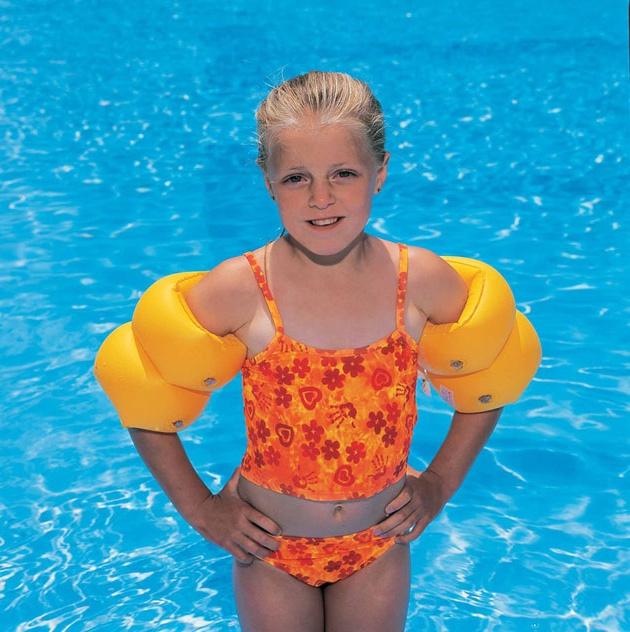 rukávky plavecké, oranžové