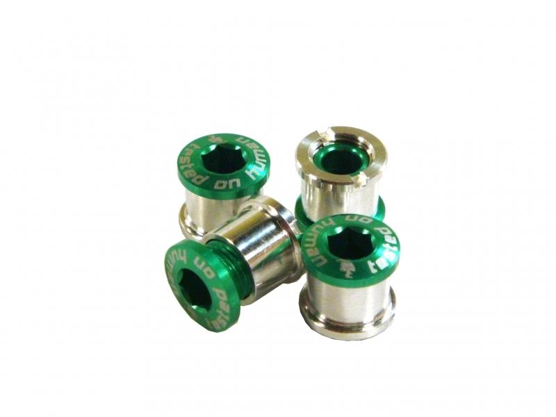 šrouby do převodníku ShamanRacing 8mm, 4ks zelené