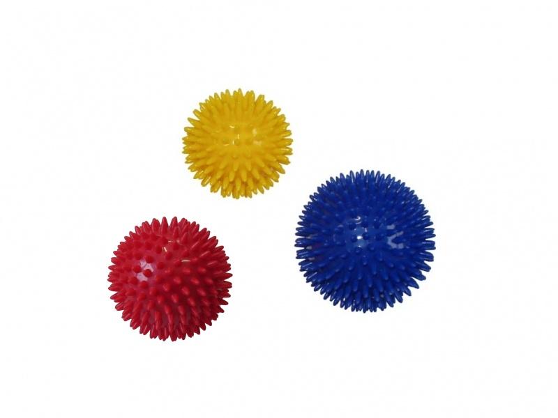 míček masážní ježek 7.5cm, červený
