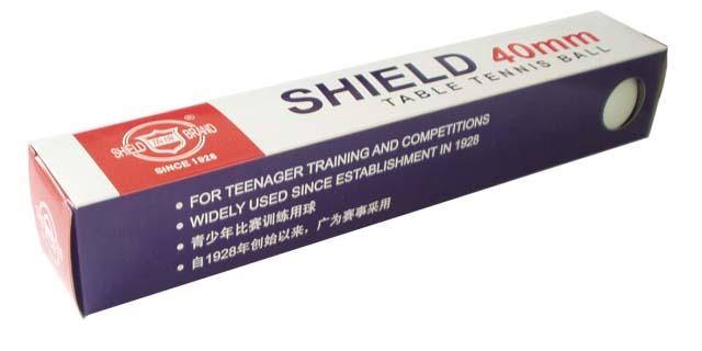 míčky stolní tenis Shield 6ks 40mm