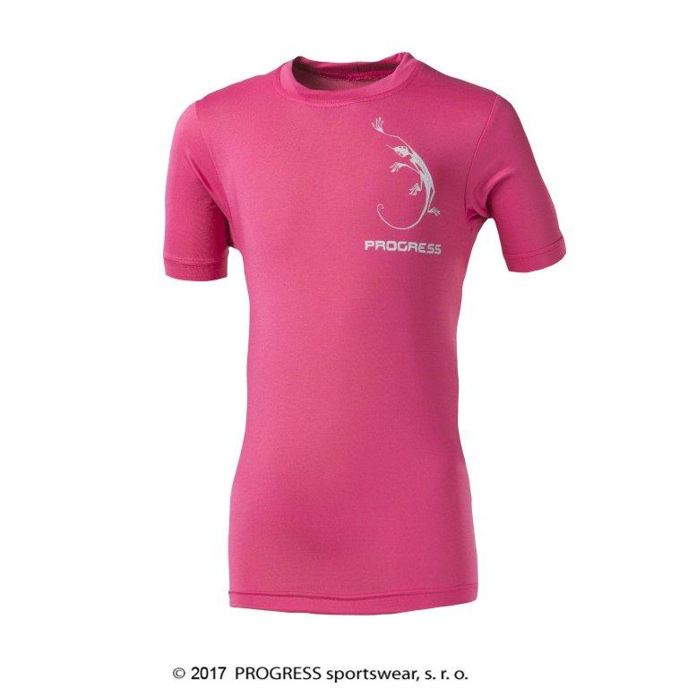 """triko krátké dětské Progress NAVAHO """"JEŠTĚRKA"""" růžové, 128"""