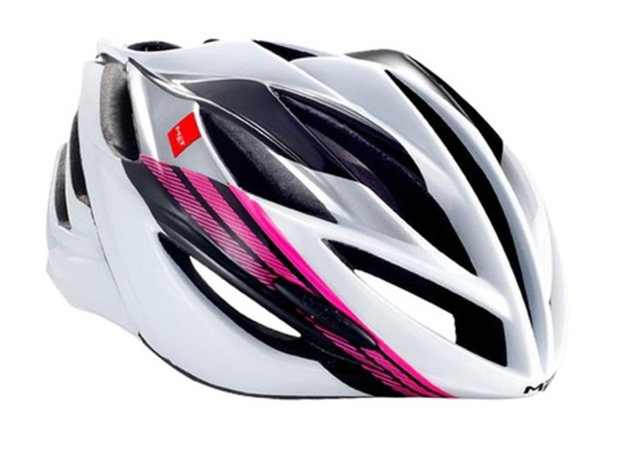 přilba MET FORTE bílo/růžová 59-62cm