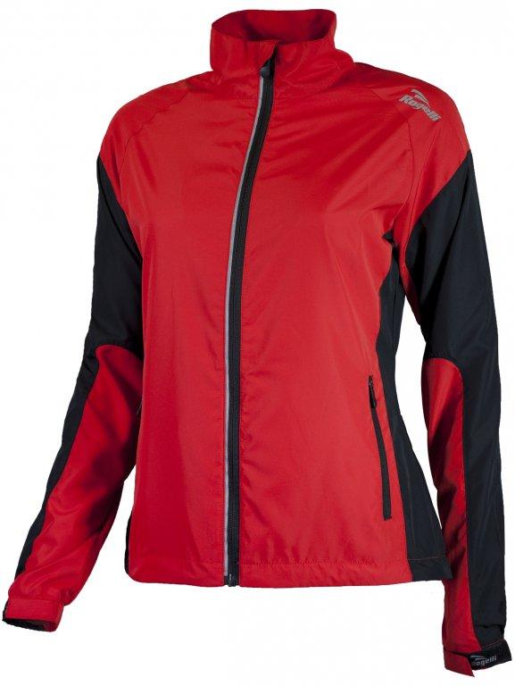bunda dámská Rogelli ELVI červeno/černá, 2XL
