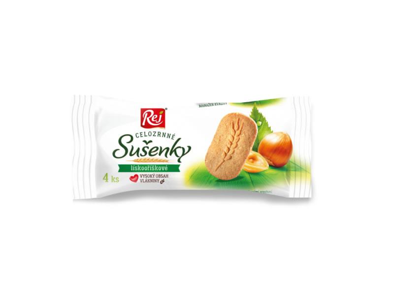 sušenky REJ celozrnné lískooříškové 34g