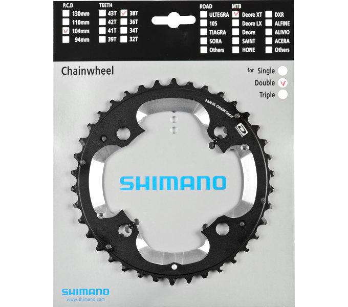Převodník 38z Shimano XT FC-M785 2x10 4 díry 38z (AK)
